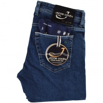 Jacob Cohen Dark Blue Limited Edition Tailored Jeans