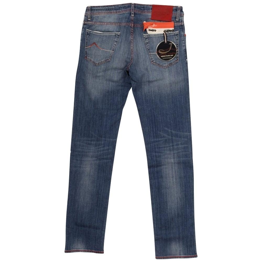 Jacob cohen jacob cohen mid wash slim fit jeans jacob - Jacob cohen denim ...