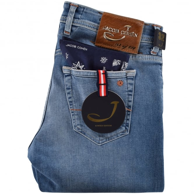 JACOB COHEN Light Blue Limited Edition Handmade Jeans