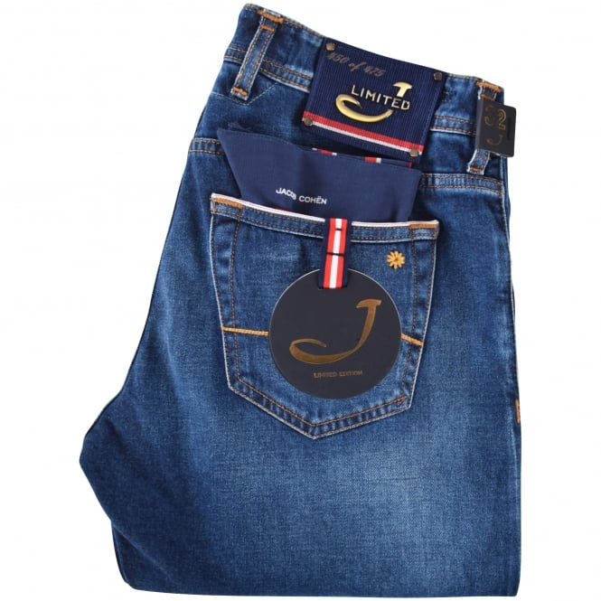 JACOB COHEN Limited Edition Dark Wash Tailored Jeans