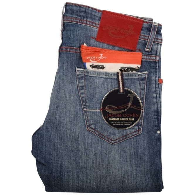 JACOB COHEN Mid Wash Slim Fit Jeans