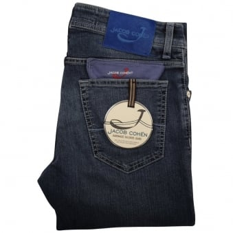 Jacob Cohen Stone Wash Slim Fit Jeans
