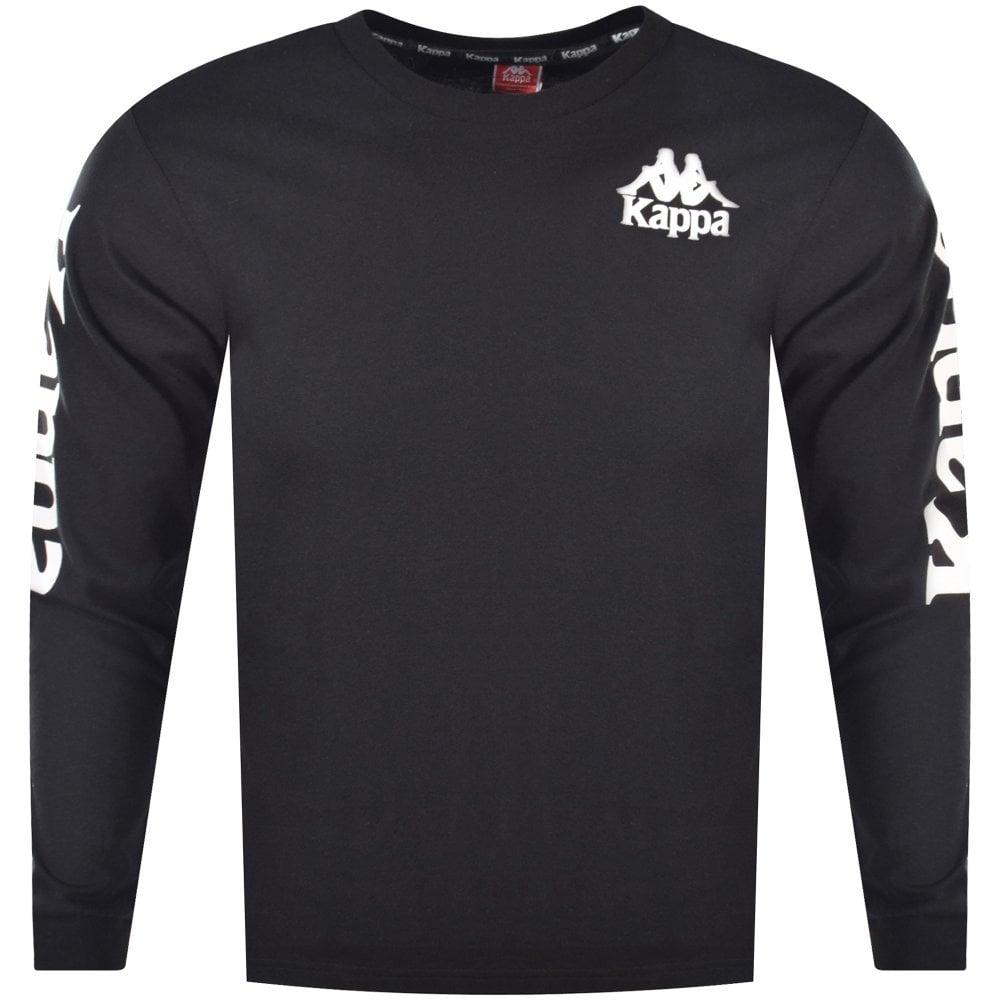 really cheap sneakers classic chic KAPPA Kappa Black Arm Print Long Sleeve T-Shirt