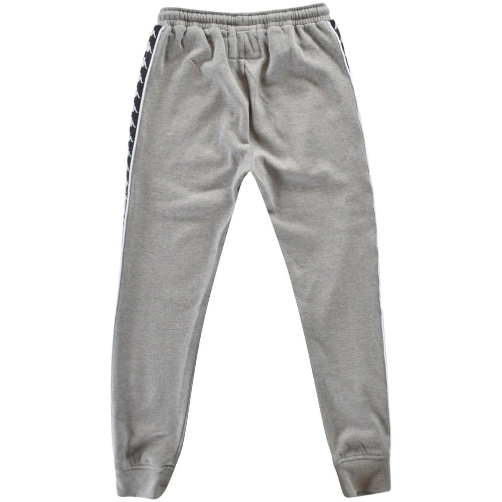 20f2964b KAPPA Kappa Grey/Black Logo Sweatpants