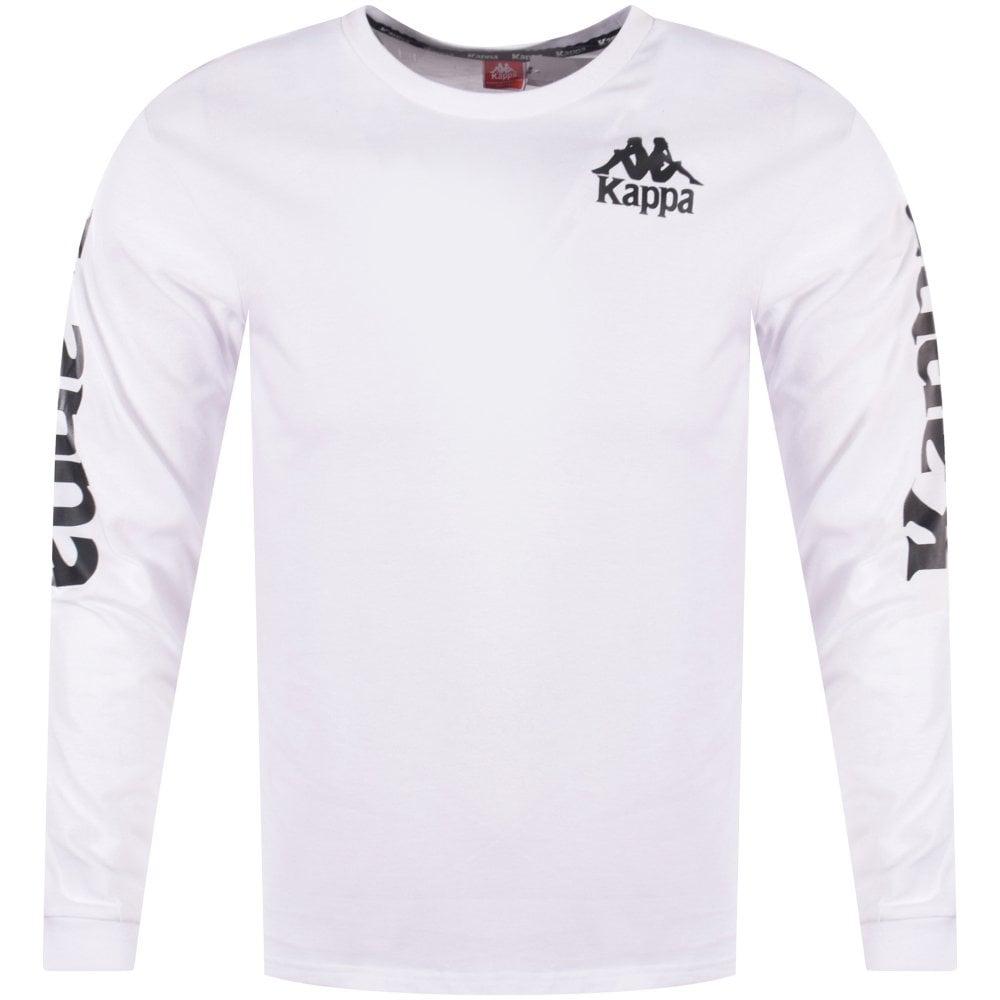 buy online 3a24e 4221e KAPPA Kappa White Branded Arm Long Sleeve T-Shirt