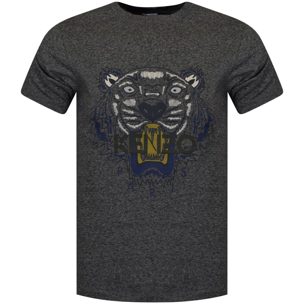 094dff25 KENZO Kenzo Anthracite/Navy Tiger Logo T-Shirt - Department from ...