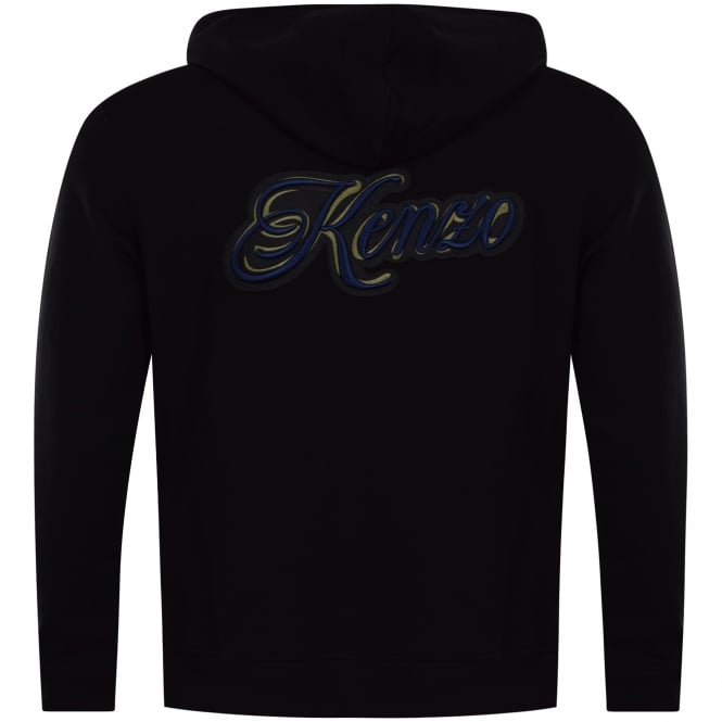 9ccf17deaea KENZO Kenzo Black Back Text Logo Hoodie - Department from ...