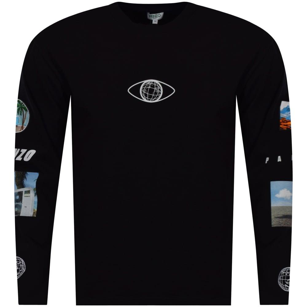 5bc1d4a45de8 KENZO Kenzo Black Badge Long Sleeve T-Shirt - Men from ...