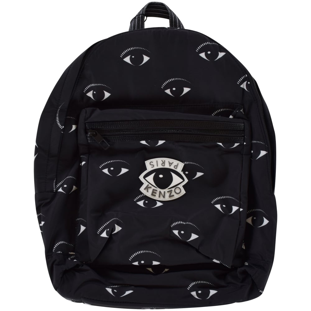 d6ab3286ed KENZO Kenzo Black Eye Logo Backpack - Department from Brother2Brother UK