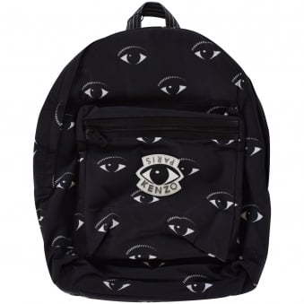Kenzo Black Eye Logo Backpack