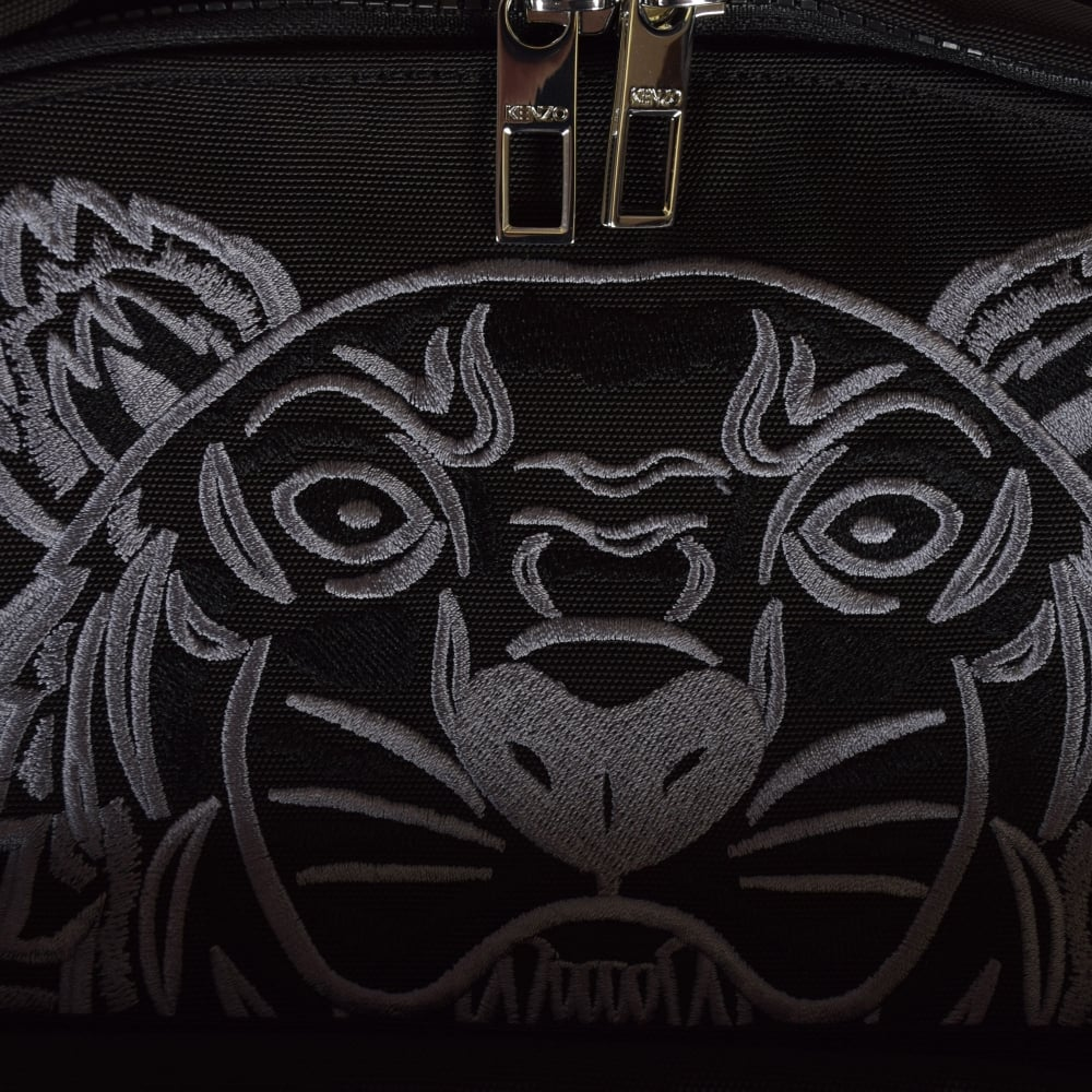 ab8a773af7 KENZO Kenzo Black/Grey Nylon Logo Backpack - Department from ...