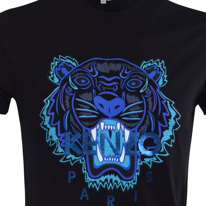 a587d59f KENZO Black Holiday Capsule Tiger T-Shirt - Department from ...