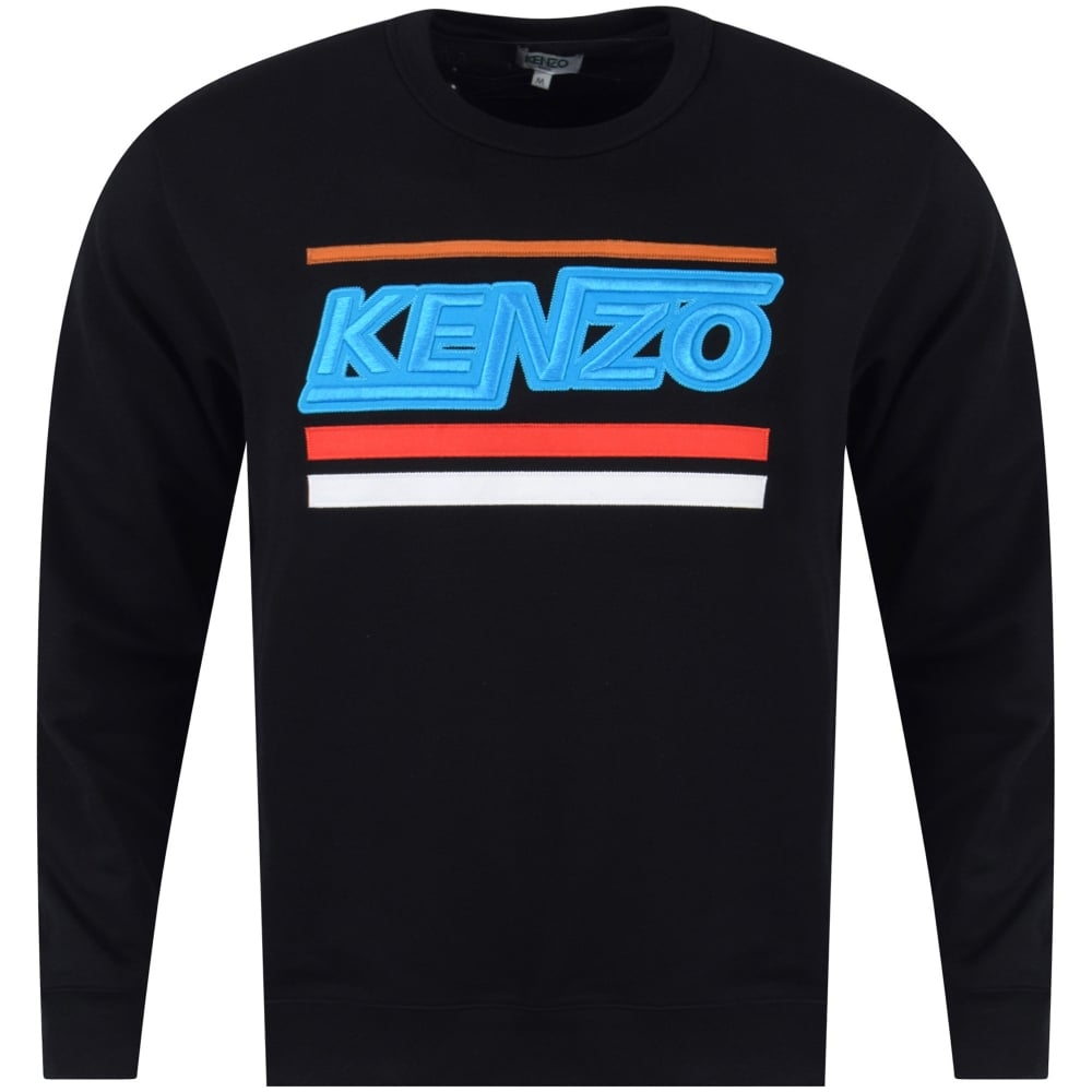 64f0b57c KENZO Kenzo Black Hyper Kenzo Logo Sweatshirt - Department from ...