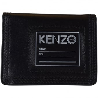 Kenzo Black Leather Card Holder