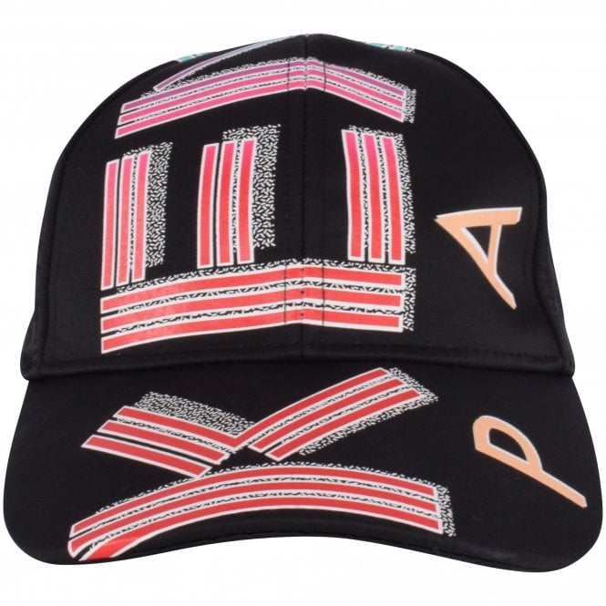 KENZO Black Logo Print Cap Front