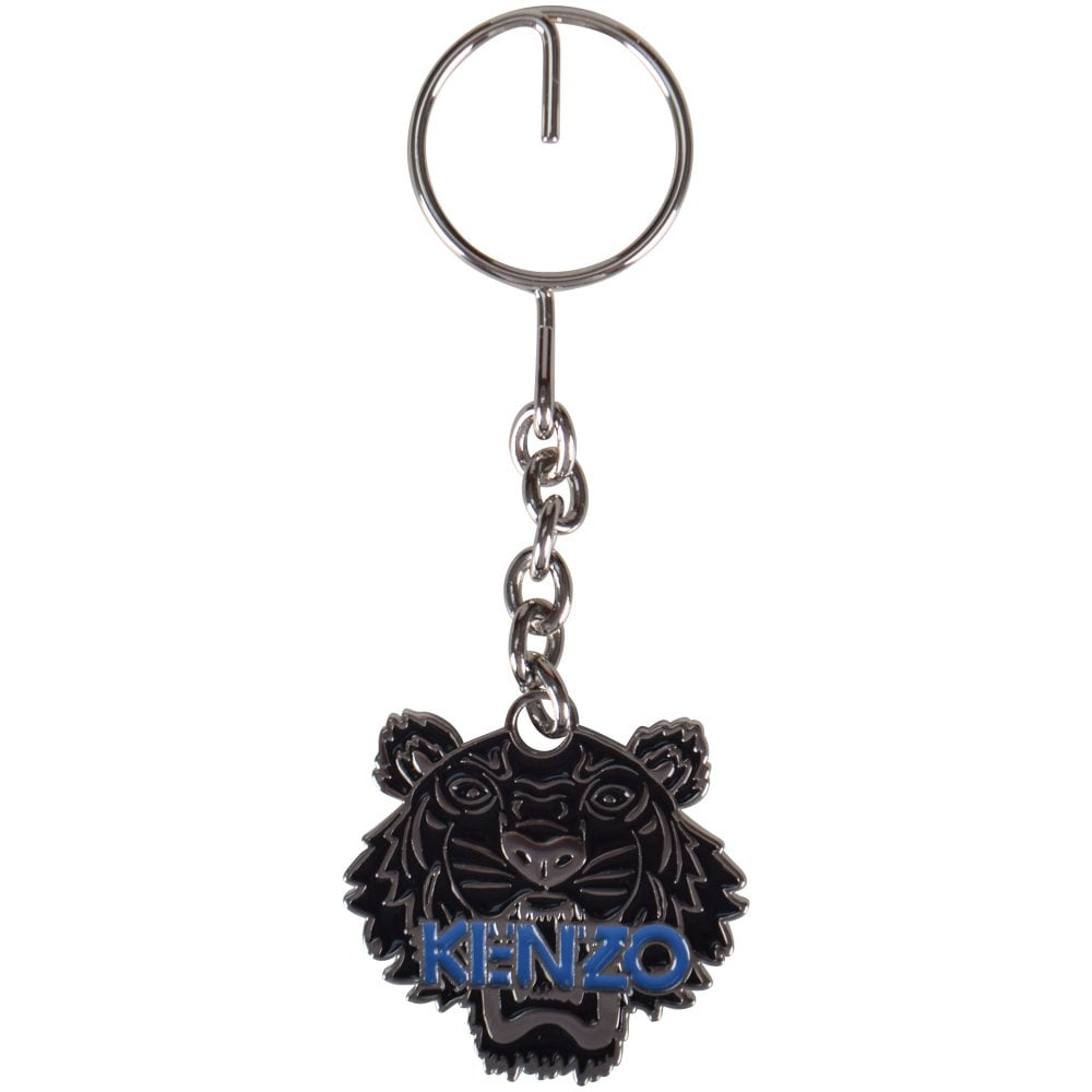 aad4271c KENZO Black Metal Tiger Keyring - Department from Brother2Brother UK