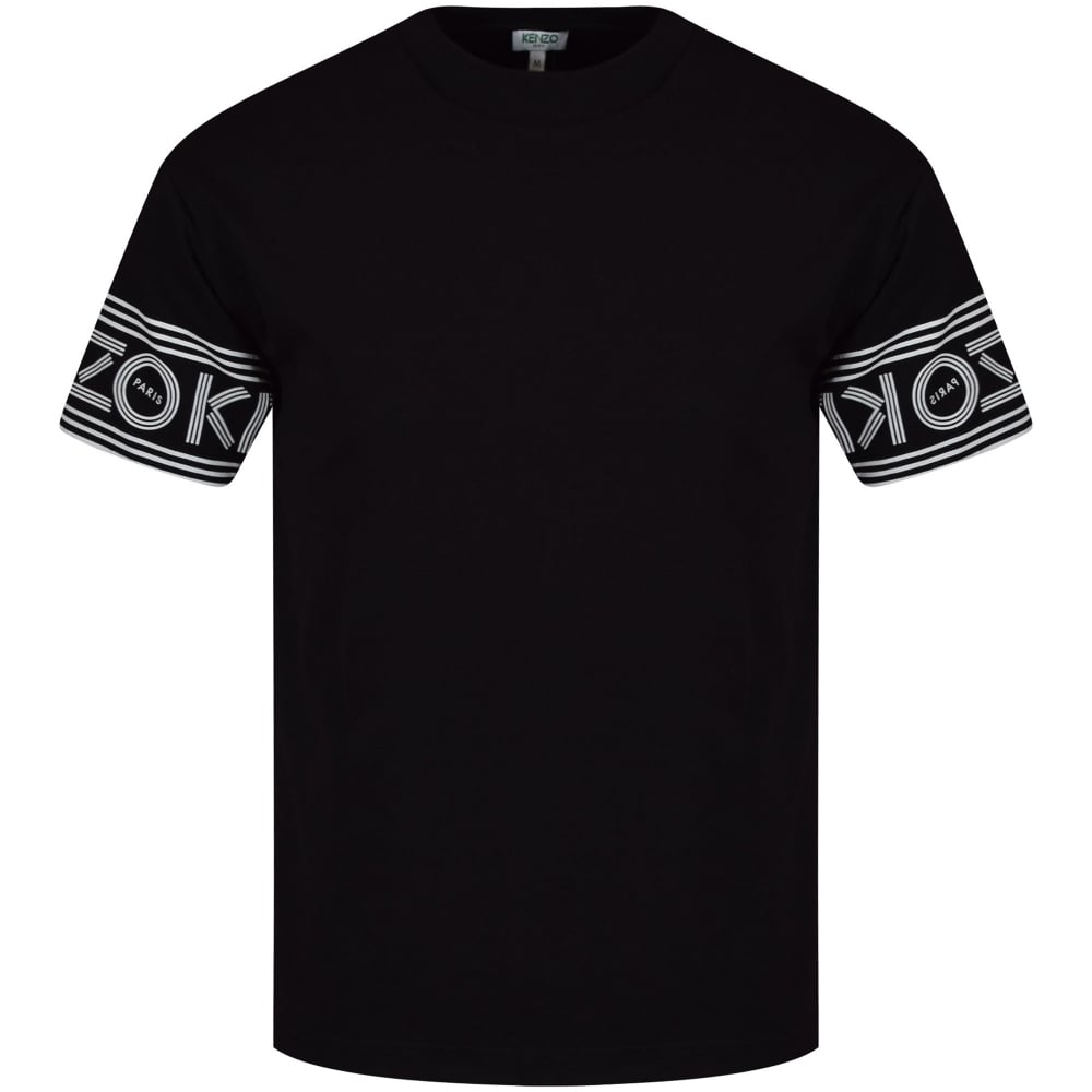 7a1ee35d KENZO Kenzo Black Sleeve Text Logo T-Shirt - Men from Brother2Brother UK