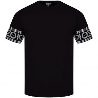 Kenzo Black Sleeve Text Logo T-Shirt