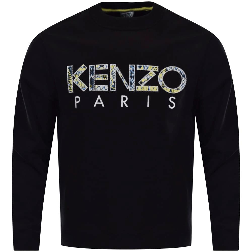 fb2badfe487 KENZO Kenzo Black Snake Text Logo Sweatshirt - Department from ...