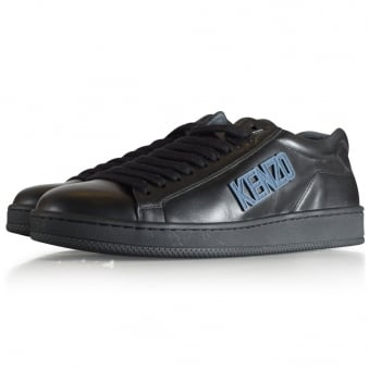 Kenzo Black Tennix Low Trainers