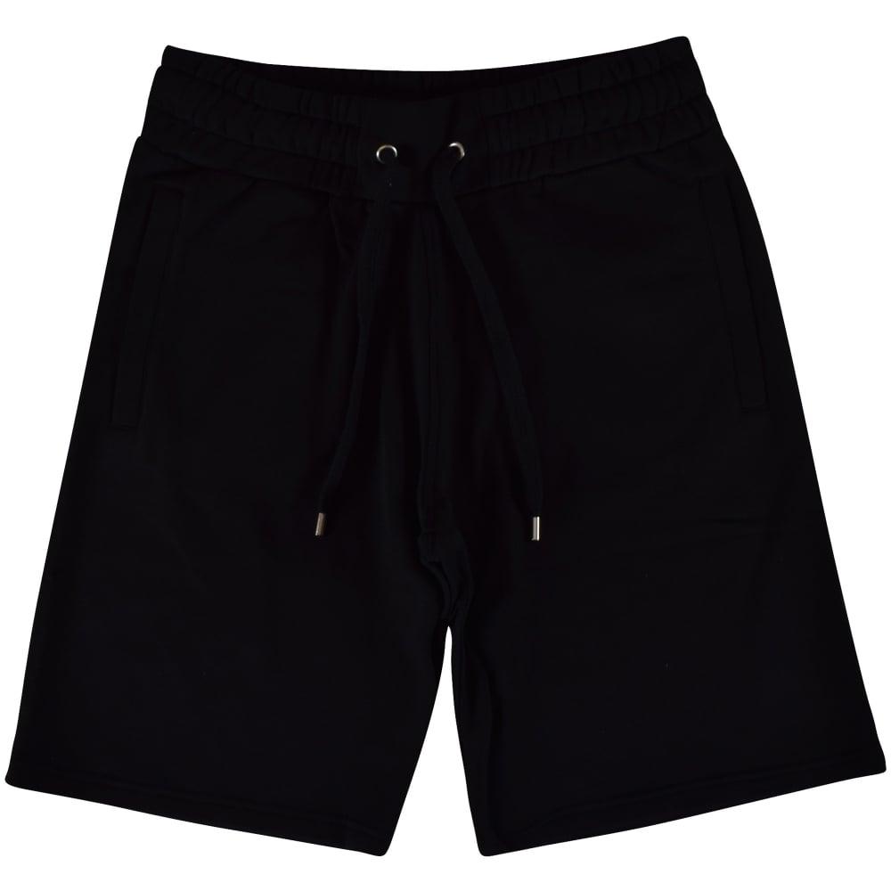 29ebf60a KENZO Kenzo Black Text Logo Jersey Shorts - Department from ...