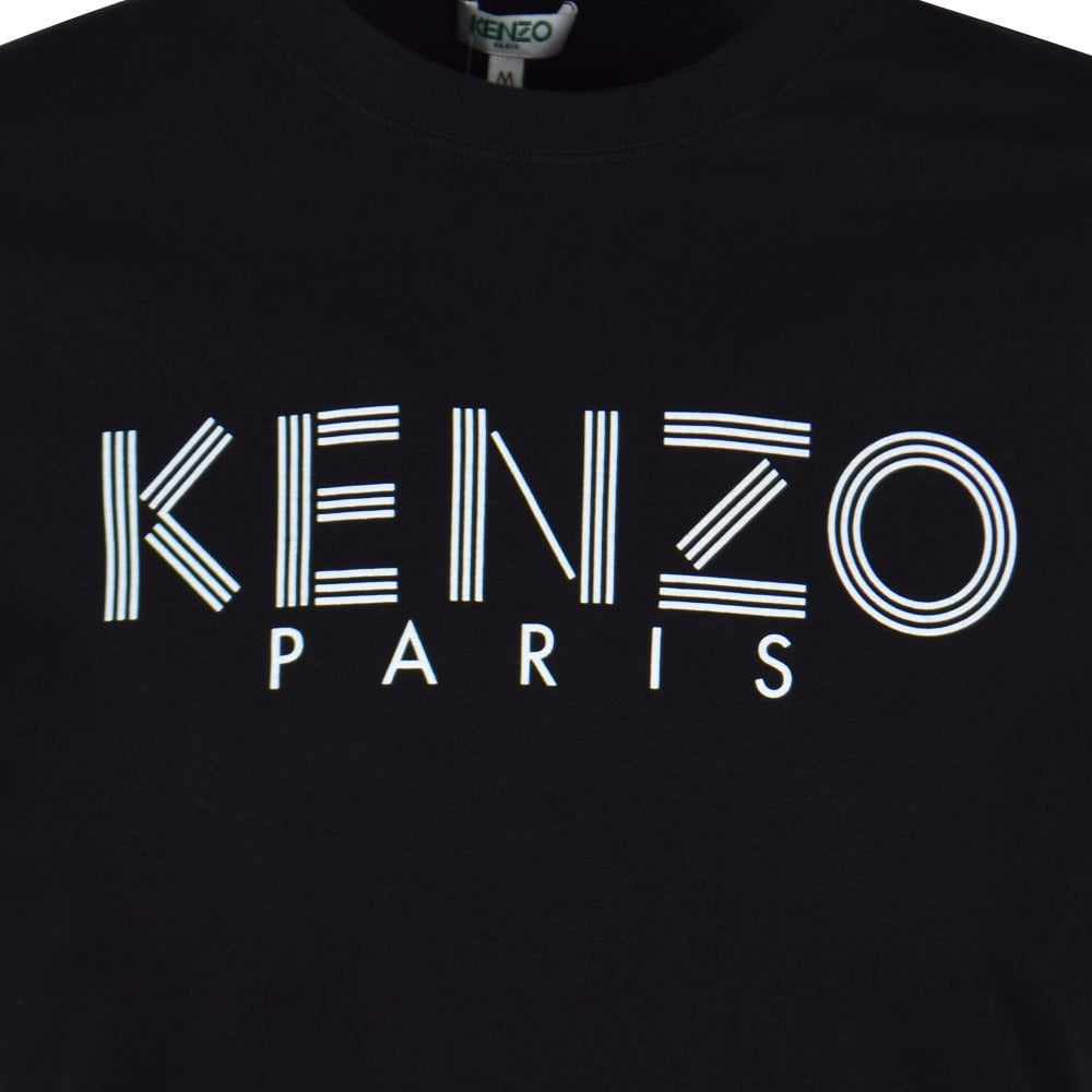 11afeb3f54c KENZO Black Text Logo T-Shirt - Department from Brother2Brother UK