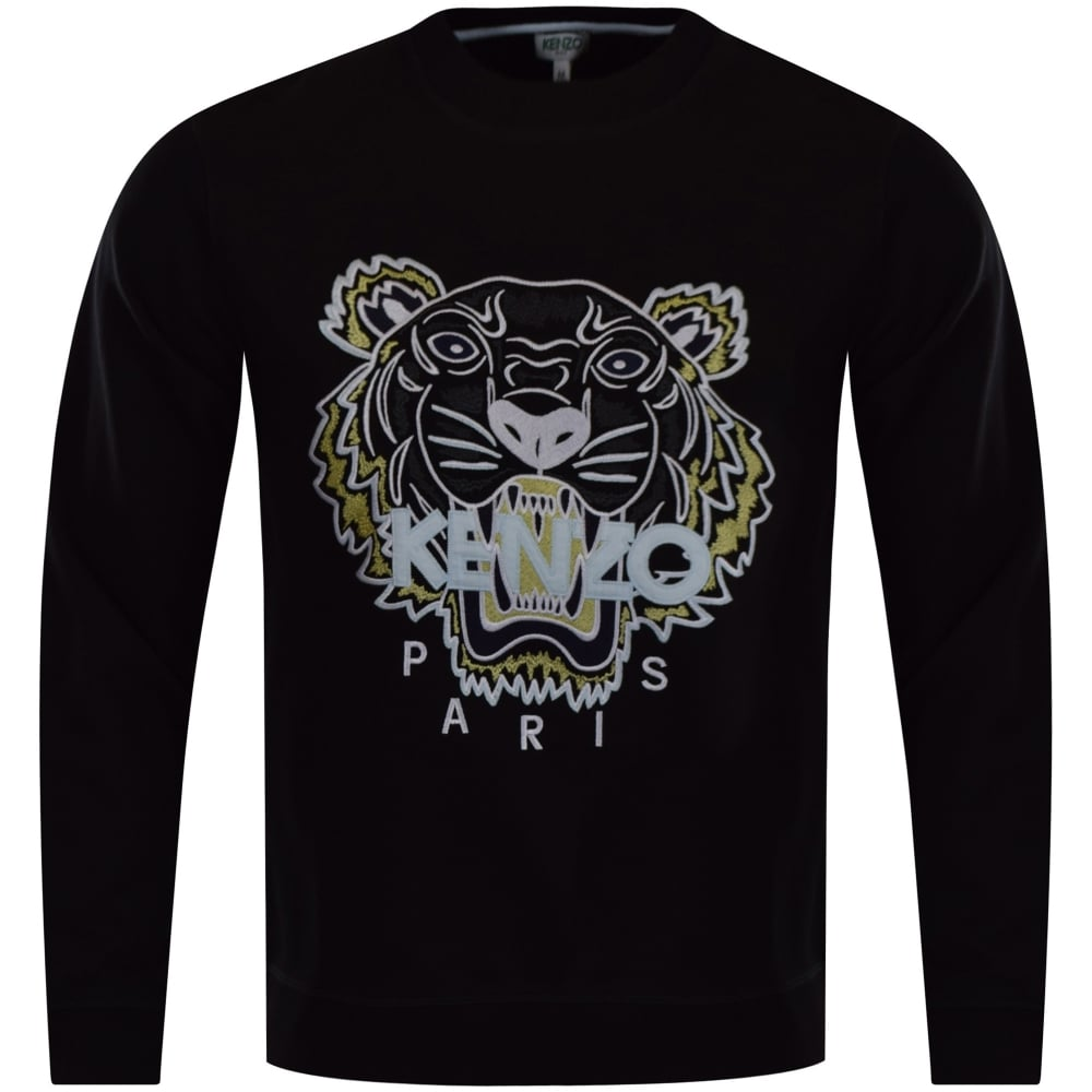 b7cd5d3b5935 KENZO Kenzo Black Tiger Logo Sweatshirt - Men from Brother2Brother UK