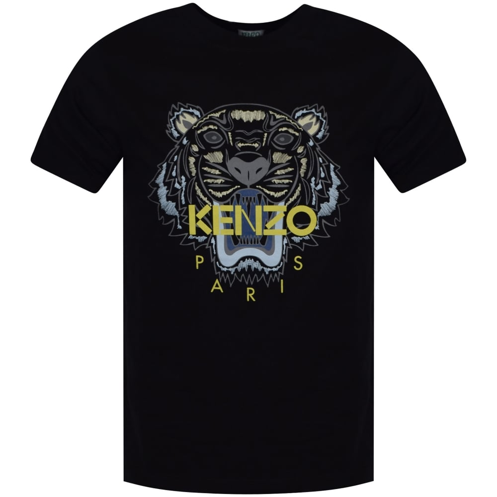 b556ef6a0f3a KENZO Kenzo Black Tiger Print T-Shirt - Men from Brother2Brother UK