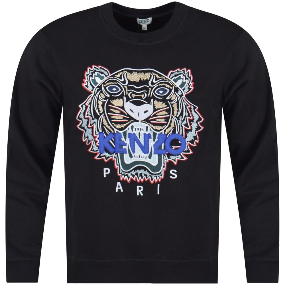 738f018ee36b KENZO Kenzo Black Tiger Sweatshirt - Men from Brother2Brother UK