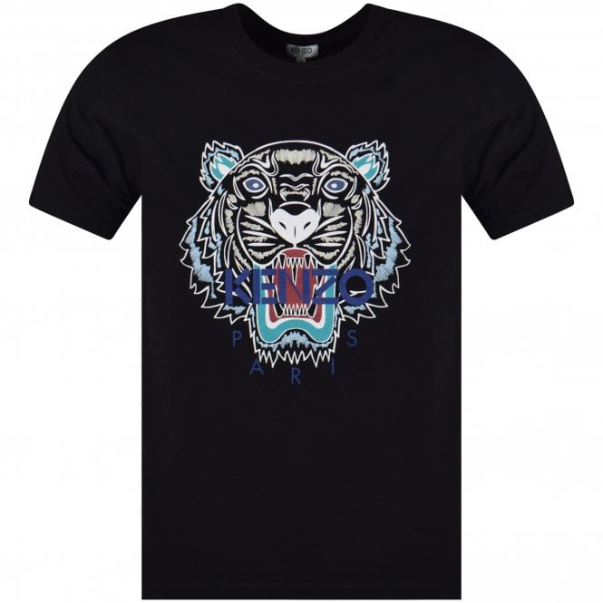 14992039 KENZO Kenzo Black Tiger T-Shirt - Department from Brother2Brother UK