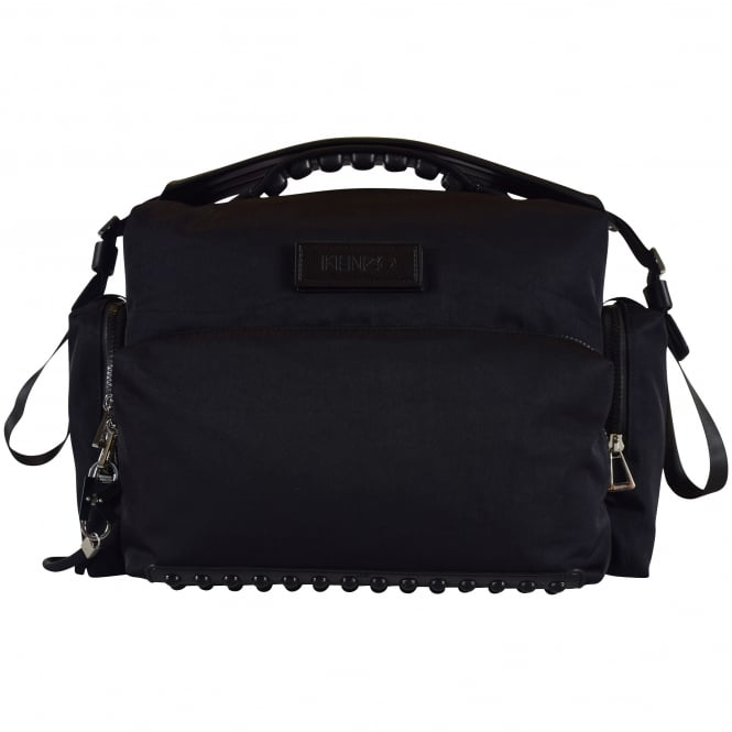 KENZO Black Velcro Logo Travel Bag