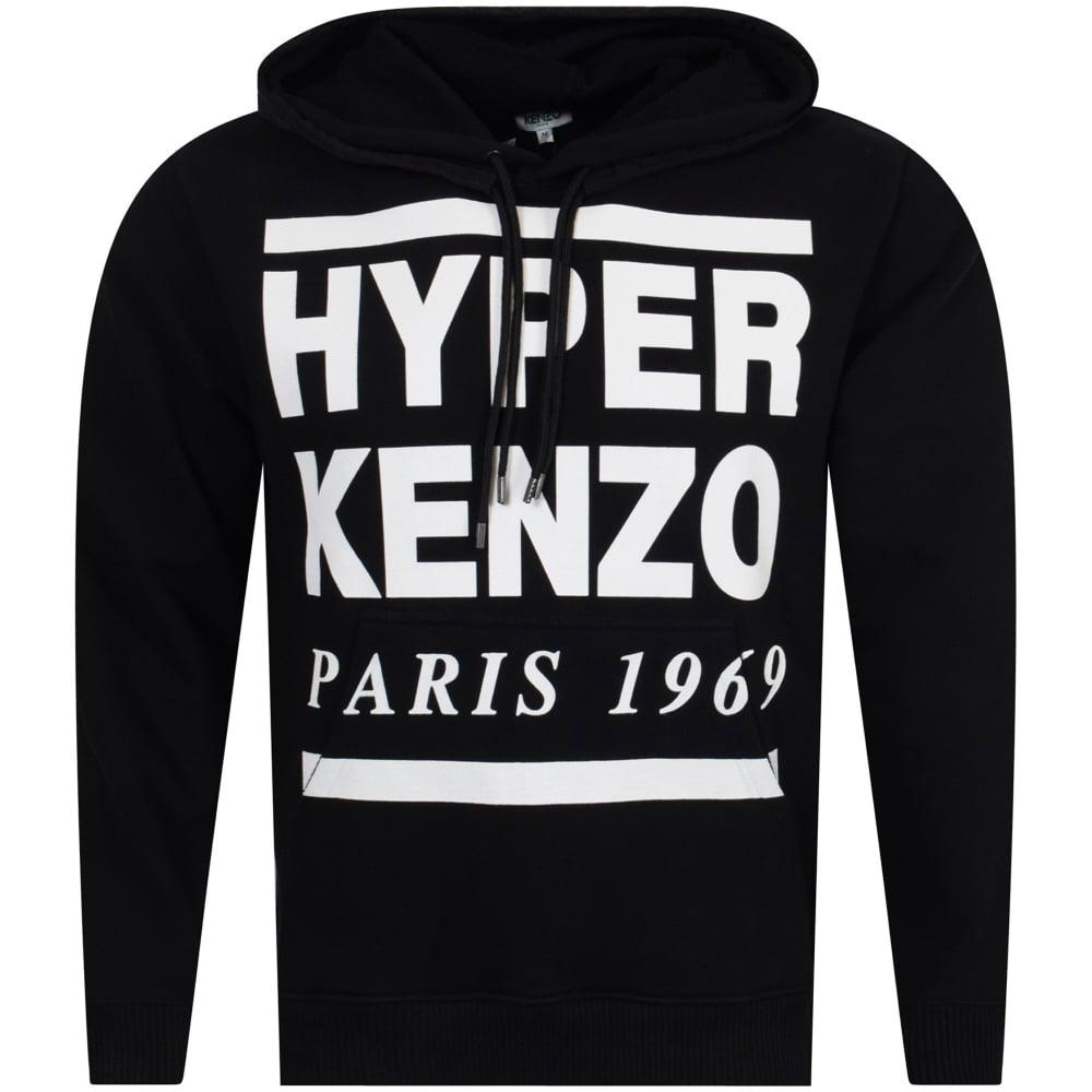 8da0ebf2 KENZO Kenzo Black/White Hyper Text Pullover Hoodie - Department from ...