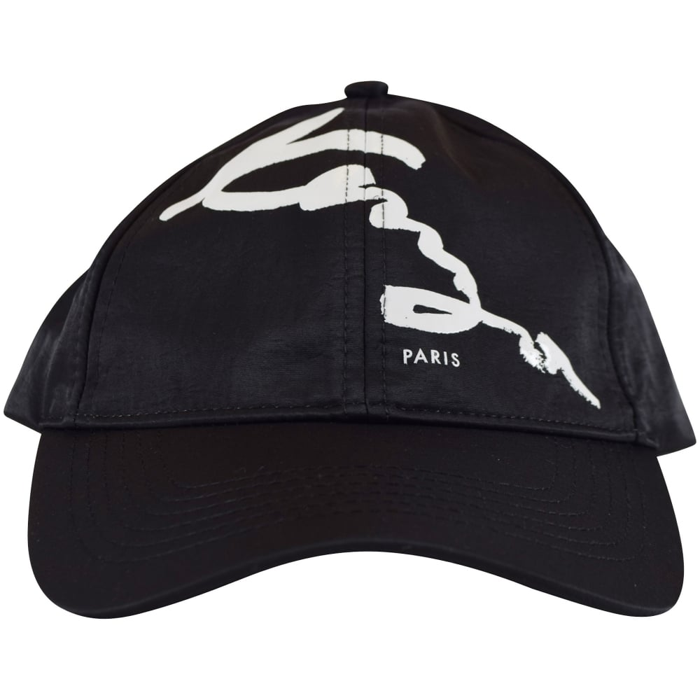 5dbe0ec498d KENZO Kenzo Black White Signature Logo Baseball Cap - Men from ...
