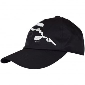 Kenzo Black/White Signature Text Baseball Cap
