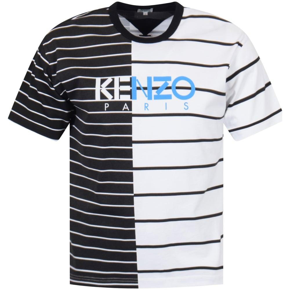 70ae73993 KENZO Kenzo Black/White Stripe Logo T-Shirt - Department from ...