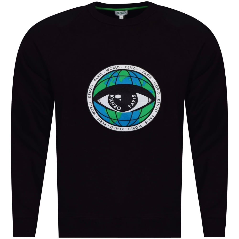 Eye Black Eye Kenzo World World Kenzo Black Sweatshirt PulOZiTkwX