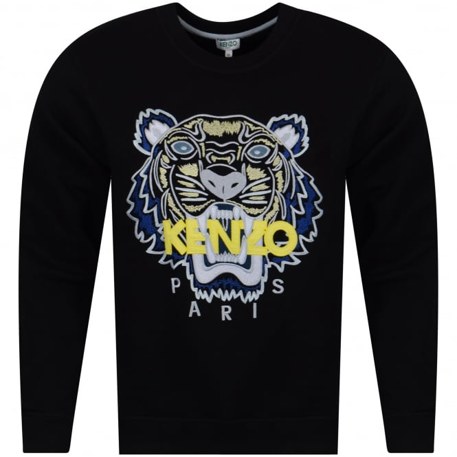 0ca64b84 KENZO Kenzo Black/Yellow/Blue Tiger Logo Sweatshirt - Department ...