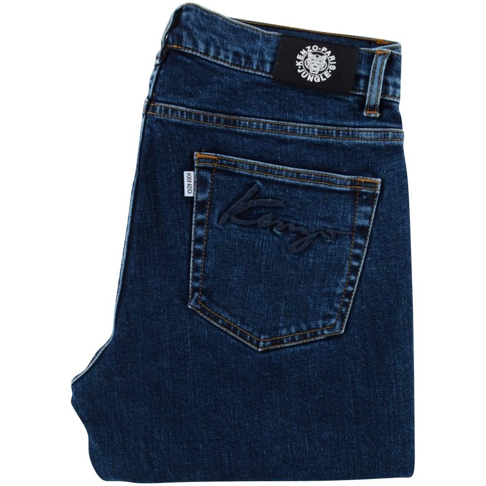KENZO Kenzo Blue Denim Skinny Fit Jeans -