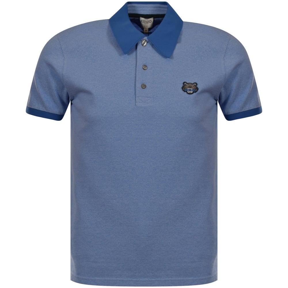 dcb83940 KENZO Kenzo Blue Tiger Logo Polo Shirt - Department from ...