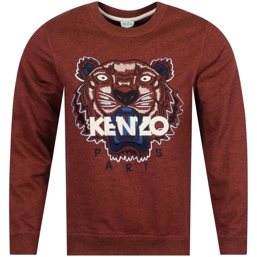 467bb5ba KENZO Kenzo Bordeaux Red Tiger Logo Sweatshirt - Men from ...