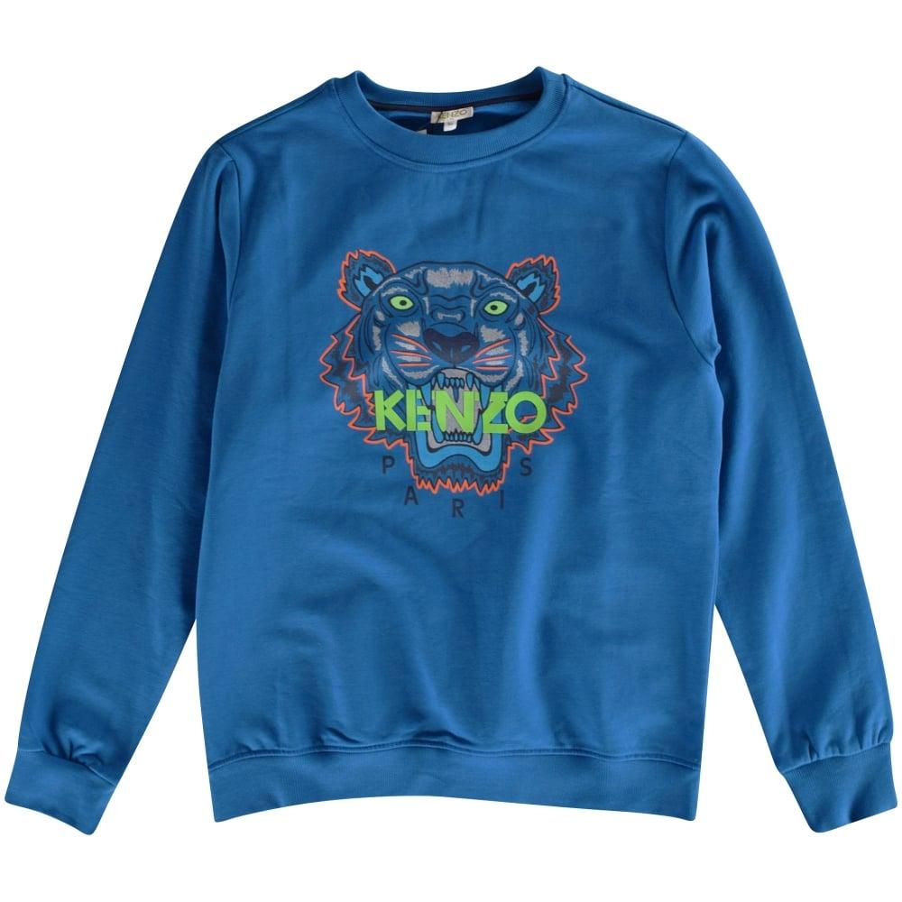 ce3624c251 KENZO JUNIOR Kenzo Boys Blue Tiger Crew Neck Sweatshirt - Junior ...