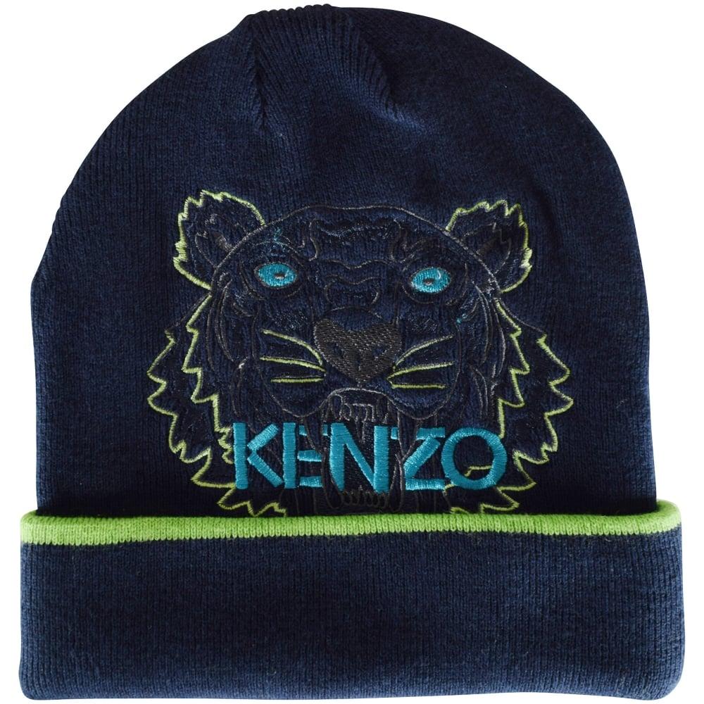 KENZO JUNIOR Kenzo Boys Navy Logo Beanie Hat - Junior from ... 880d73f3d2e