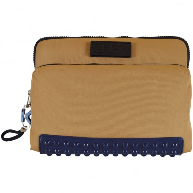 KENZO Camel/Navy Studded Laptop Bag