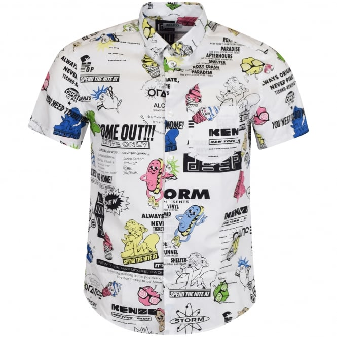 KENZO Cartoon Flyer Printed Shirt