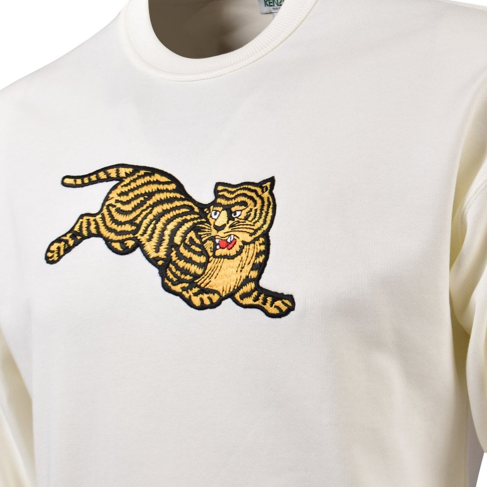 8b589261 Cream Jumping Tiger Sweatshirt