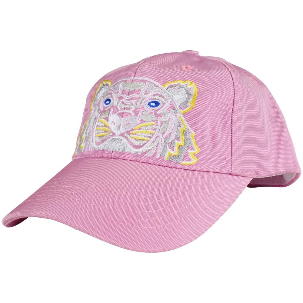 KENZO Kenzo Flamingo Pink Tiger Logo Baseball Cap - Men from ... f9c7bdcb673