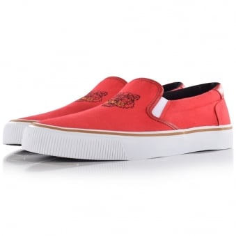 Kenzo Red Tiger Slip On Trainers