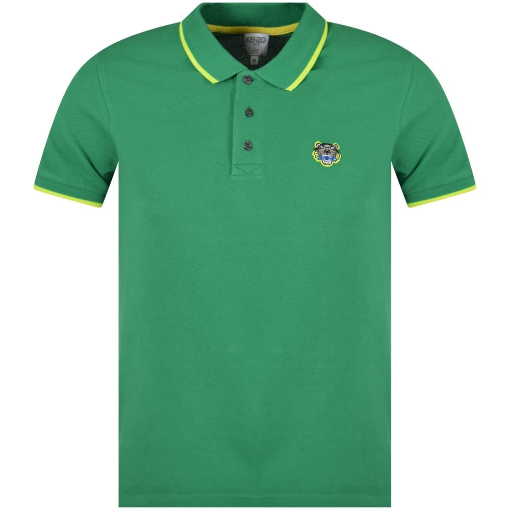 e8d8c161 KENZO Kenzo Green Tiger Polo Shirt - Men from Brother2Brother UK
