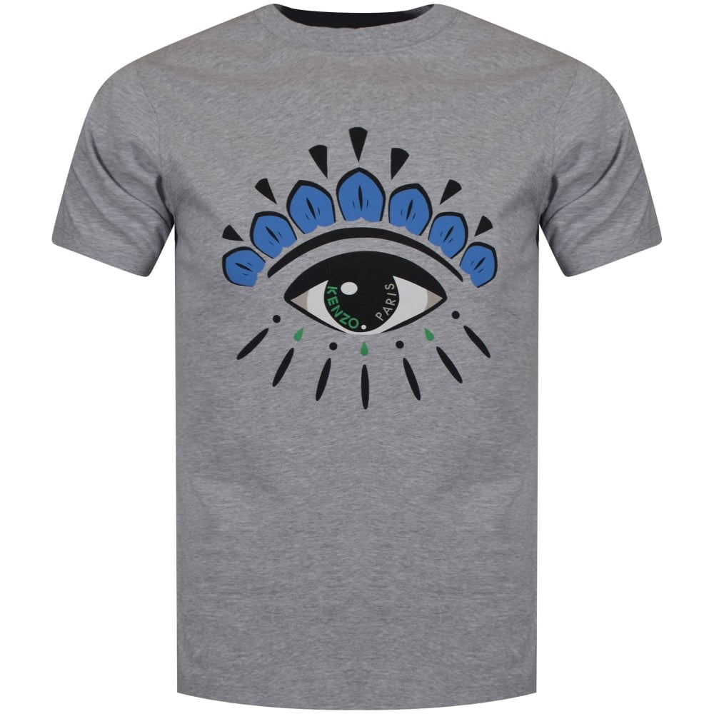 b4c9695d4efd1 KENZO Kenzo Grey/Blue Eye Logo T-Shirt - Men from Brother2Brother UK