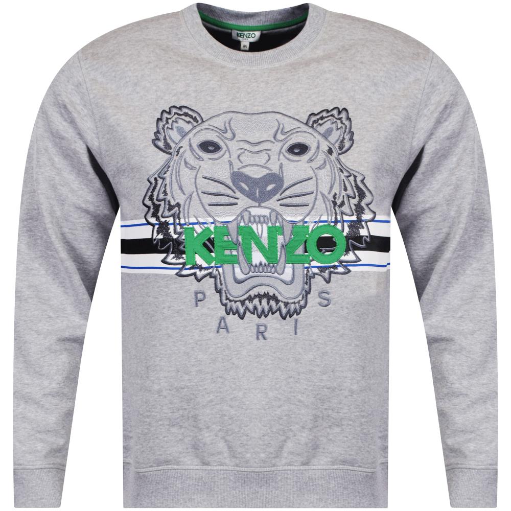 07e392d3e8 Grey/Green Tiger Stripe Logo Sweatshirt